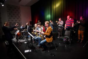 50-jähriges Jubiläum der Musikschule Kiel. Im Bild: Bigband Musikschule Kiel unter der Leitung von Dr. Markus Schmidt-Relenberg
